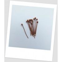 Пин ювелирный металлический цвета меди, 21 мм х 0,5 мм Упаковка- 140 шт (id:620008)