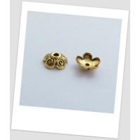 Шапочка для бусины металлическая, цвет: античное золото 10 мм. Упаковка - 30 шт. (id:270013)