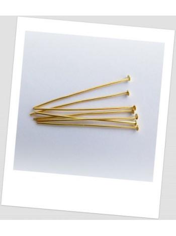 Гвоздик ювелирный металлический золото 40 мм х 0,7 мм. Упаковка - 100 шт.