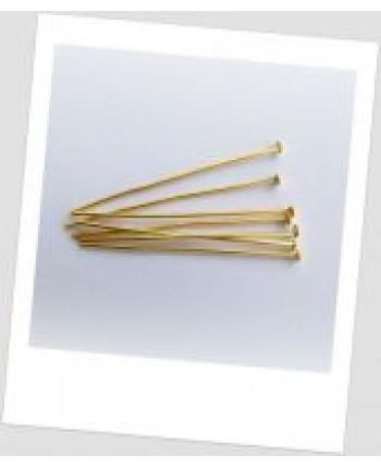 Гвоздик ювелирный металлический золото 40 мм х 0,7 мм. Упаковка - 100 шт. (id:610001)