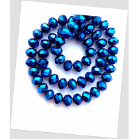 Бусина хрустальная граненая приплюснутая синяя 12 мм. Упаковка - 20 шт (id:160016)