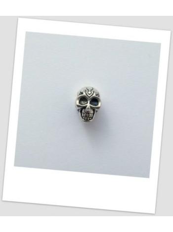 Бусина металлическая в форме черепа пандора 12 мм