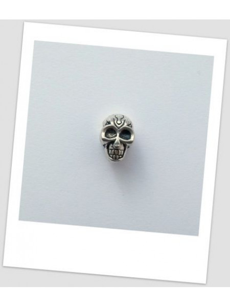 Бусина металлическая в форме черепа пандора 12 мм (id:110011)