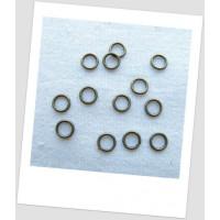 Колечко соединительное металлическое плотное бронзового цвета, 8 мм. Упаковка - 487 шт!