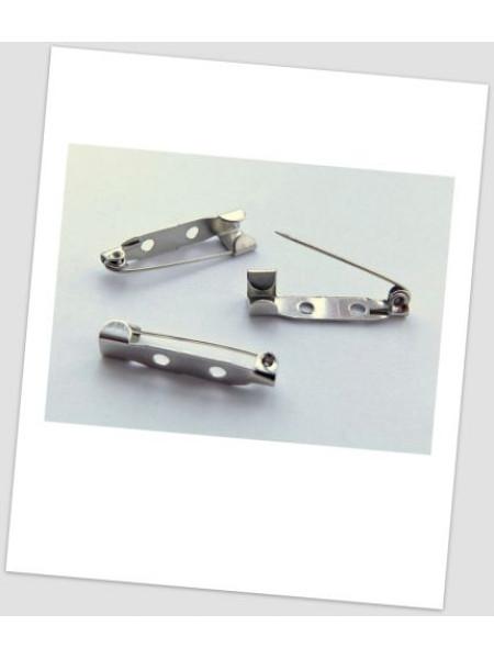 Основа для броши металлическая, стальная, 31 мм , упаковка -10 шт. (id:290002)