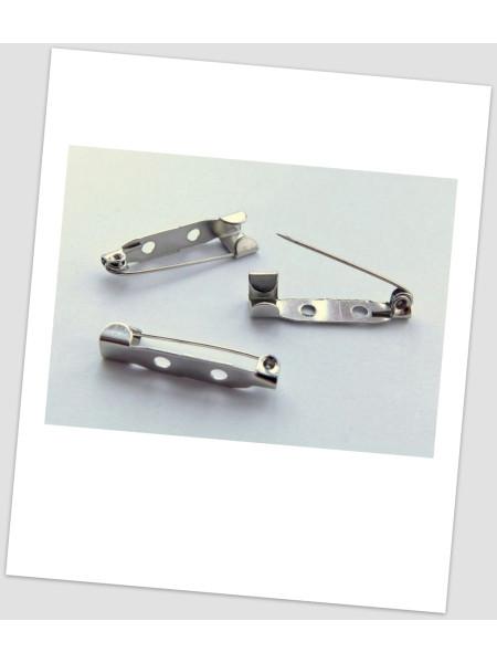 Основа для броши металлическая, стального цвета, 45x4 мм, упаковка -10 шт. (id:290019)