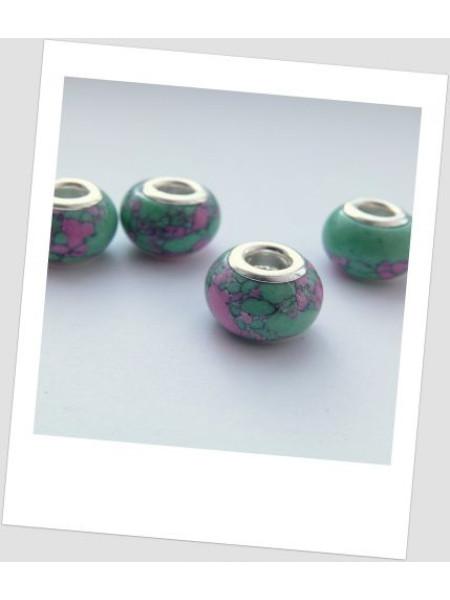 """Бусина из натурального прессованного камня (бирюза) """"Пандора"""", упаковка - 4 шт. (id:110006)"""