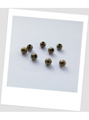 Бусина-разделитель металлическая бронза 4 мм, упаковка - 30 шт.
