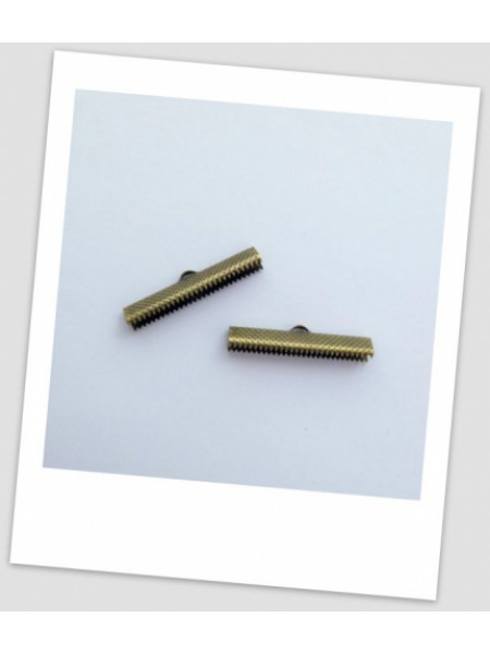 "Зажим для ленты металлический ""крокодильчик"", бронза, 35 мм х 7,5 мм. Упаковка - 20 шт. (id:270015)"