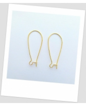Швензы металлические 36мм х 15мм, цвет: золото. Упаковка - 30 пар. (id:400009)