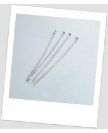 Гвоздик ювелирный металлический, цвета сталь, 50 мм х 0,7 мм , упаковка - 35 шт. (id:610008)