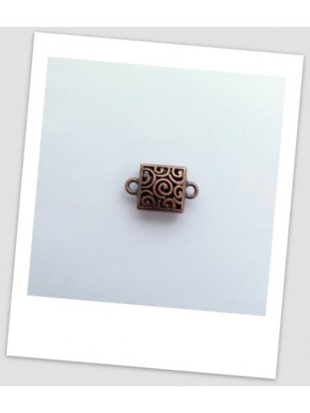 Бусина-коннектор металлический, античная медь, 23 х 15 мм. Упаковка - 3 шт. (id:310003)