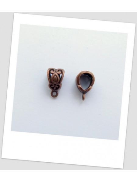 Бейл металлический ажурный медного цвета, 13,5 х 7,5 см. Упаковка - 20 шт. (id:250013)