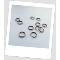 Колечко соединительное, два витка, бронза, 7 мм
