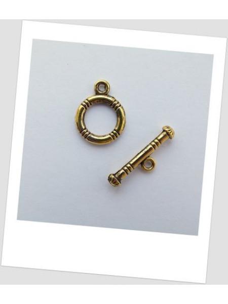 Замок-тогл металлический золотого цвета 12 мм. Упаковка - 10 шт. (id:410005)