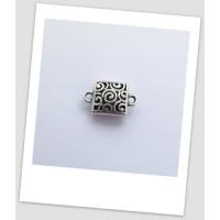 Бусина-коннектор металлический, античное серебро, 23 х 15 мм, упаковка - 3 шт. (id:310002)