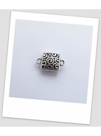 Бусина-коннектор металлический, античное серебро, 23 х 15 мм