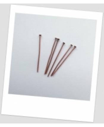 Гвоздик бижутерный, медный, 30 мм х 0,7 мм. Упаковка - 50 шт. (id:610005)