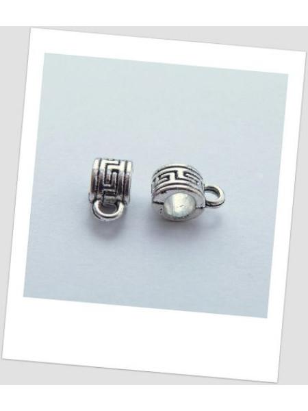 Бейл стальной металлический с греческим орнаментом 7мм х 5мм, упаковка - 5 шт. (id:250003)