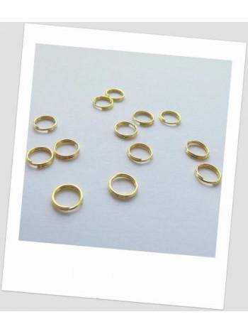 Соединительное колечко двойное 6 мм золото. Упаковка - 100 шт.