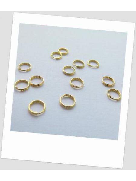 Соединительное колечко двойное 6 мм золото. Упаковка - 100 шт. (id:670003)