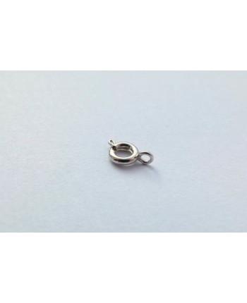 Замочек ювелирный круглый металлический стального цвета 6  мм х 6 мм, упаковка - 10 шт. (id:410014)