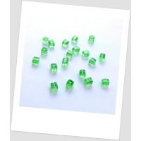 "Бусина стеклянная форма ""куб"", зеленая, 4 х 4 мм. Упаковка - 30 шт. (id:160036)"