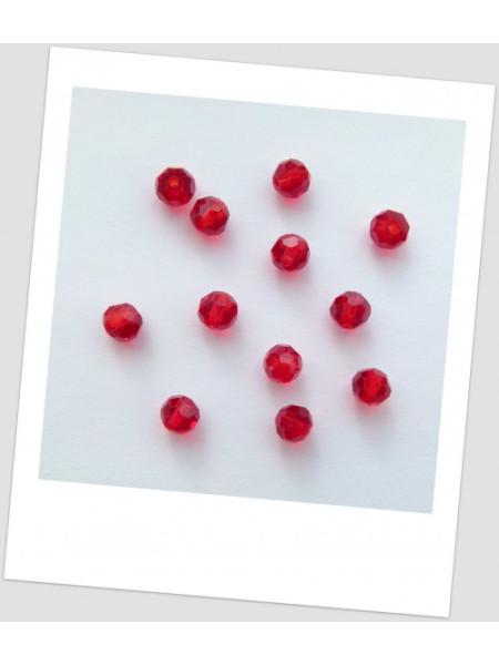 Бусина - хрустальная граненая, круглой формы, цвет гранатовый, 6 мм. Упаковка - 50 шт. (id:160071)