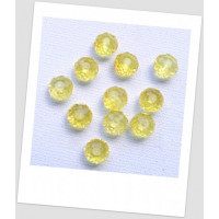 Бусина - рондель хрустальная граненая желтая, 8 мм х 6 мм. Упаковка -50 шт. (id:160098)