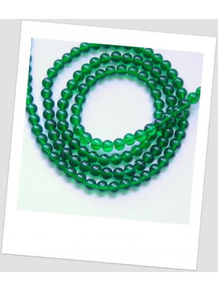 Бусина зелёная полупрозрачная, цвет зелёный, 6 мм, упаковка - 30 шт. (id:150025)