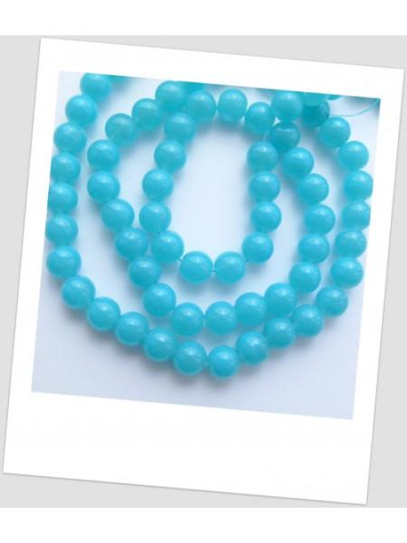 Бусина стеклянная  голубая, 10 мм (id:160042), упаковка - 30 шт.