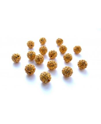 "Бусина ""Шамбала"" (полимерная глина) 10 мм, цвет: желтый (id:180005)"