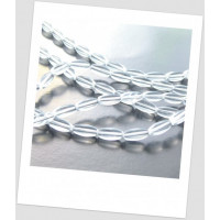 """Бусина стеклянная прозрачная в форме """"бочонок"""" , упаковка - 30 шт.(id:160050)"""