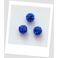 "Бусина ""Шамбала"" (полимерная глина) 10 мм, цвет: синий (id:180008)"