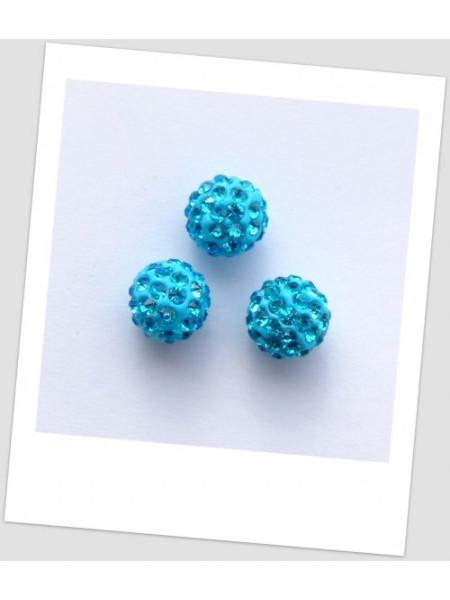 """Бусина """"Шамбала"""" (полимерная глина) 10 мм, цвет: голубой (id:180007)"""