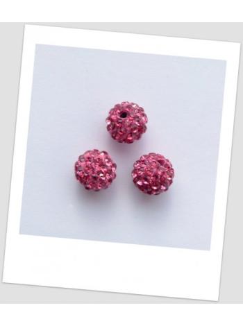 """Бусина """"Шамбала"""" (полимерная глина) 10 мм, цвет: розовый"""