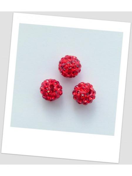 """Бусина """"Шамбала"""" (полимерная глина) 10 мм, цвет: красный (id:180002)"""
