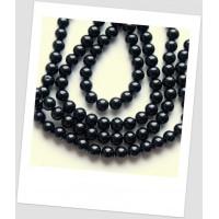 Бусина керамическая чёрная 10 мм (id:160093), упаковка - 30 шт.