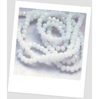 Бусина стеклянная граненая белая дымчатая, 6 х 4 мм. Упаковка - 50 шт. (id:160107)