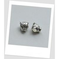 Бусина металлическая в форме леопарда стиля пандора 12 мм х 12 мм (id:110012)