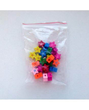 """Бусины деревянные фигурные """"звёздочка"""", микс,  15 мм х 15 мм, упаковка - 25 шт. (id:100015)"""