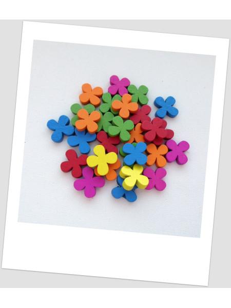 Бусина цветок ,микс, 19 мм х 19 мм, упаковка - 28 шт. (id:100032)