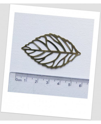 """Подвеска металлическая """"листик"""", ц. бронзовый, 54 мм х 32 мм. Упаковка - 20 шт. (id:140106)"""