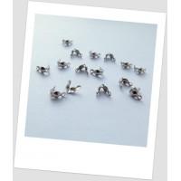 Каллоты металлические, стального цвета, 8х4 мм, Упаковка - 50 шт. (id:270021)