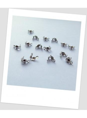 Каллоты металлические, стального цвета, 8х4 мм, Упаковка - 50 шт.