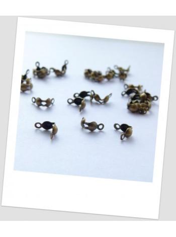 Каллоты металлические, бронзового цвета, 8х4 мм (упаковка - 50 шт.) (id:270020)