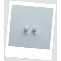 Швензы-гвоздики металлические с площадкой, стального цвета, 12 x 8 мм. Цена за упаковку -30 пар (id:400013)
