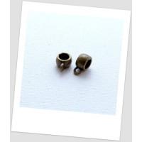 Бейл металлический крупный, цвет бронзовый, 11 x 5 мм. Упаковка - 10 шт. (id:250017)