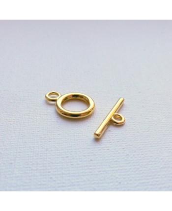 Замок-тогл металлический простой золотого цвета 14 х 19мм. Упаковка - 10 шт. (id:410029)