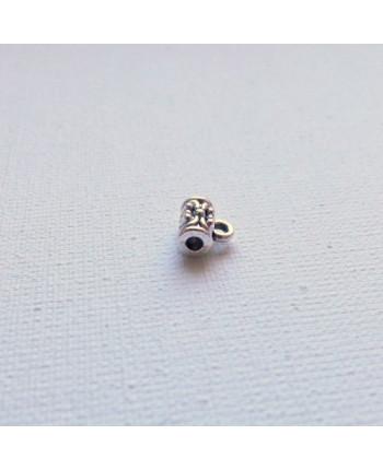Бейл (держатель для кулона) миниатюрный стальной, 7х4 мм, упаковка - 20 шт. (id:250018)